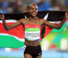 Faith Kipyegon wins Women's 1500m in 2017 Shanghai Diamond League