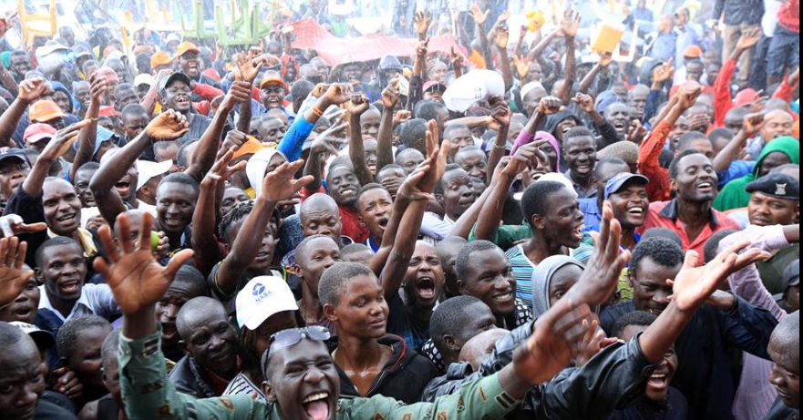 Happy NASA supporters in Rally in Kisii