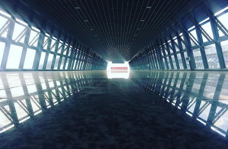 Inside the standard Gauge Rail Way passage