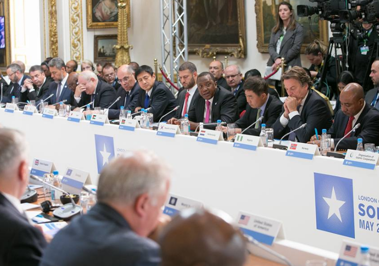 President Uhuru Kenyatta in London attending the Somalia 2017 Summit in UK
