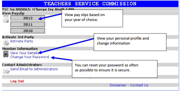TSC Official Portal, Online Payslips Fo Teachers, Registation And Download  Download Payslips