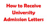 how to receive your university admission letter and helb application process