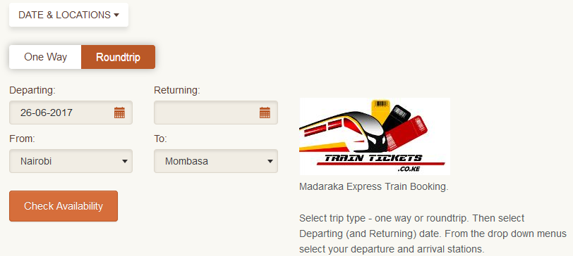 Booking SGR Madaraka Express Train Online