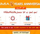 Jumia Kenya 5th Year Anniversary, Products special offer,prices, discounts smartphones, fortune wheel spinning
