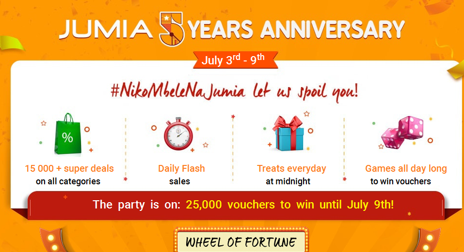 Jumia Kenya 5th Year Anniversary: Products on special offer