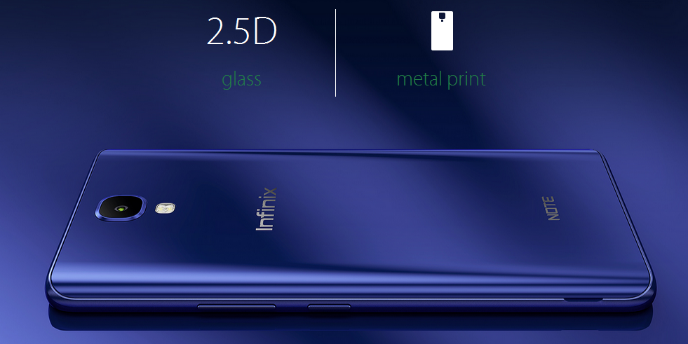 Infinix NOTE 4 Design with 2.5 D glass in kenya