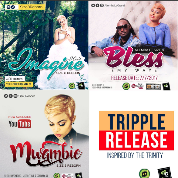 Size 8 New three songs release Mwambie, Bless and I can't Imagine video