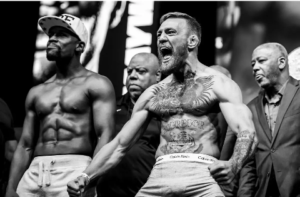 Floyd Mayweather, a.k.a., Money vs Conor McGregor, a.k.a. Notorious big fight time