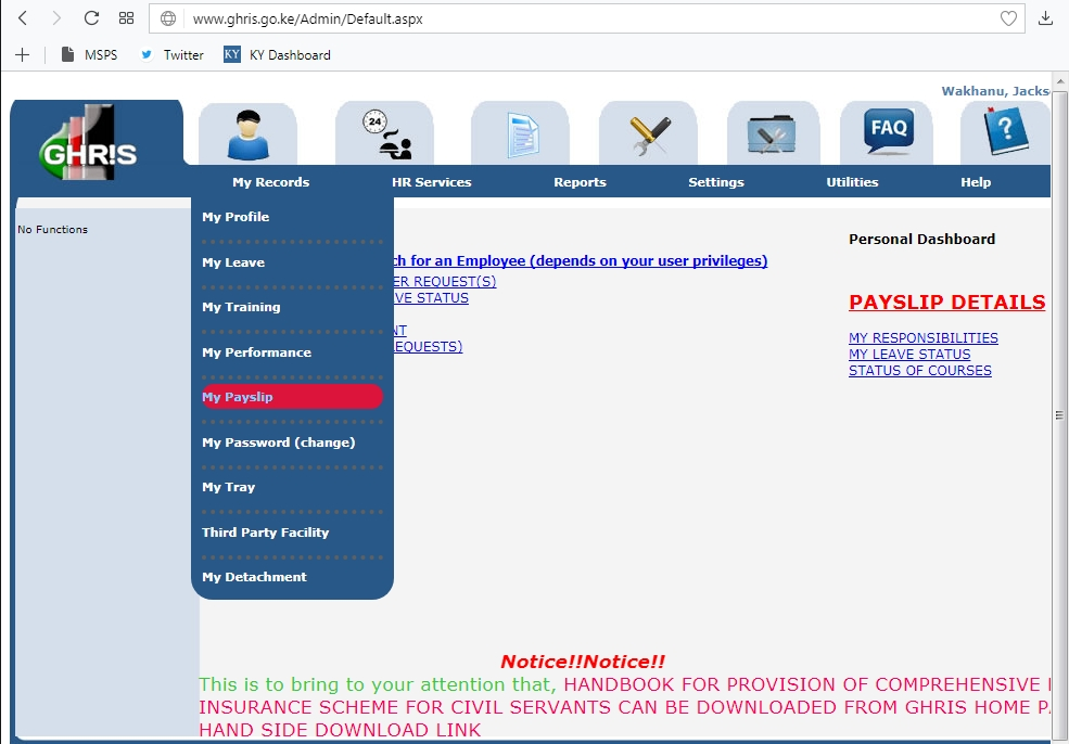 How to Check and Print Online Payslip for Government of