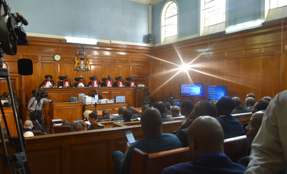 Live proceedings during the hearing of presidential election results petition in Kenya, 2017