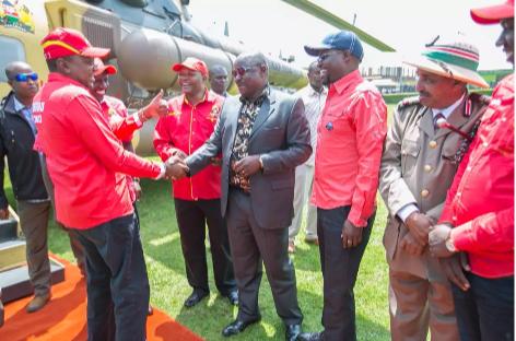 Isaac Ruto and  Uhuru Kenyatta In Kericho