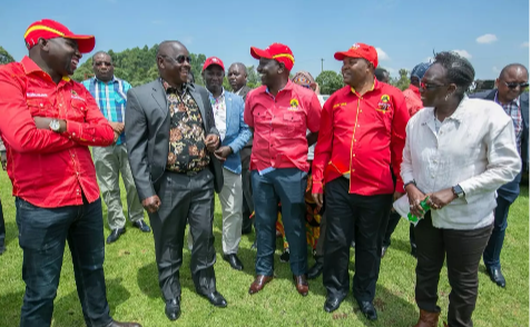 Isaac Ruto and  William Ruto in Kericho