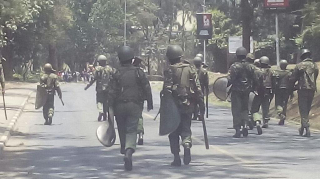 Police Brutalize University of Nairobi Students Over Babu Demos