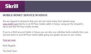 Withdrawing Money from online accounts Skrill, Paypal, to Your Bank or Mpesa