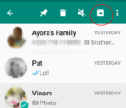Whatsapp Chat Archive Feature