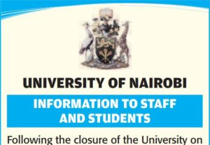 university of nairobi re-opening dates after students protests