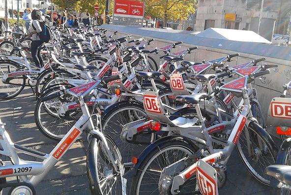 Bikes Outside A Train Station