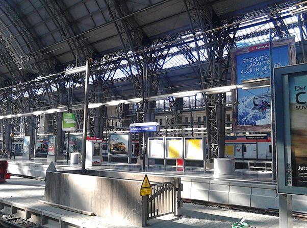 Platform In The Train Station