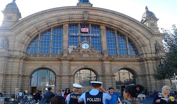 Train Station In Frankfurt, Germany