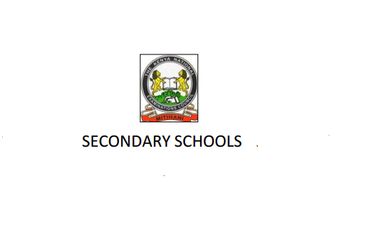 Nandi County and Sub County secondary schools