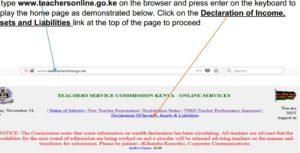 Teachers online wealth declaration forms
