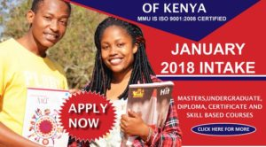 Universities and Colleges offering January 2018 Intakes in Kenya (PSSP)