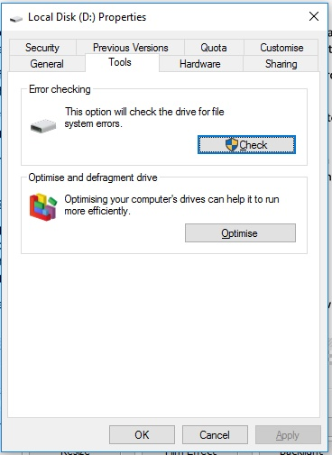 How to defragment a hard drive in Window