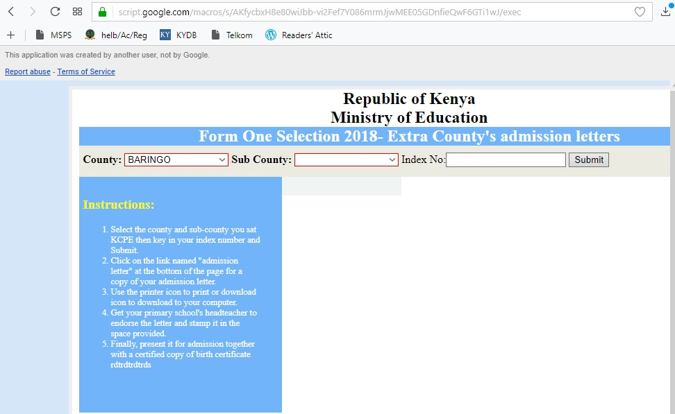 How to Download 2018 Form One Admission Letter
