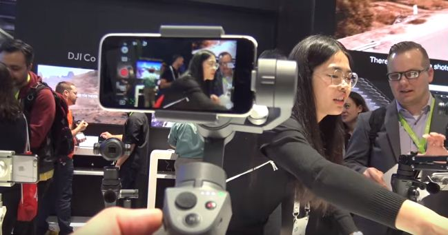 DJI Osmo Mobile 2 smartphone stabilizer at CES 2018
