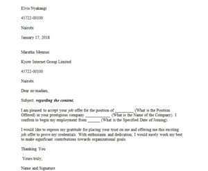 Sample acceptance letter and how to write a letter of acceptance for college admission, job