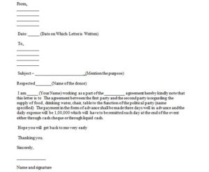 Sample agreement letter, How to write an agreement letter for contract or between two parties