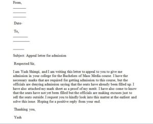 Sample appeal letter, How write an appeal letter that will be considered