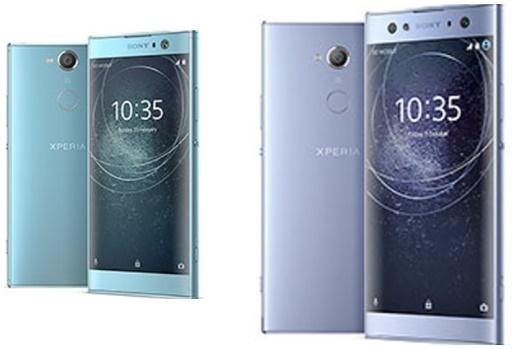 The Sony Xperia XA2 and XA2 Ultra smartphones showcased at CES 2018