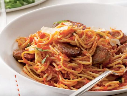 how to cook Sausage spaghetti and recipe
