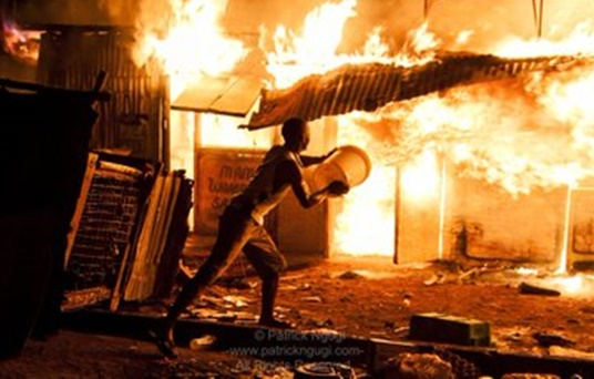 Kijiji area of Langata  fire tragedy