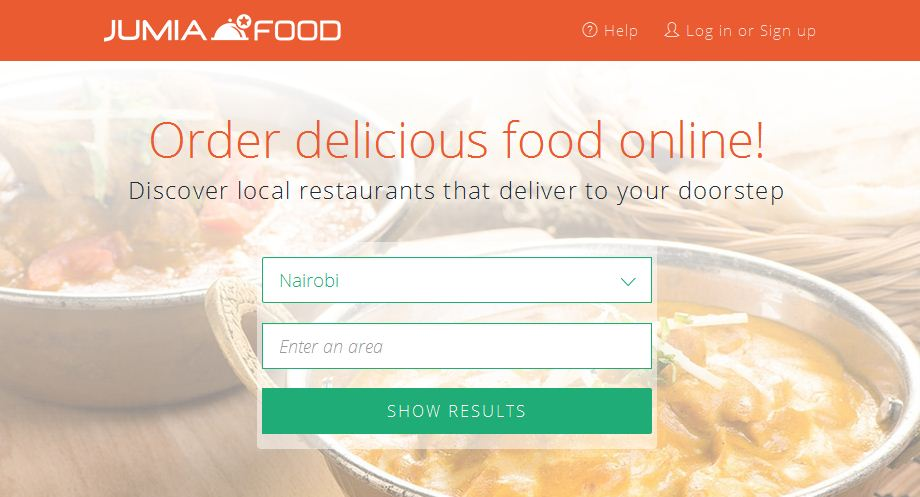 website for Jumia food deliveries in nairobi, kenya