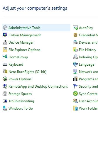 Open Administrative Tools