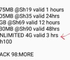 Safaricom Unlimited 4G Data bundles
