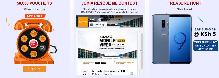 competitions to win shopping vouchers during the jumia kenya mobile week 2018