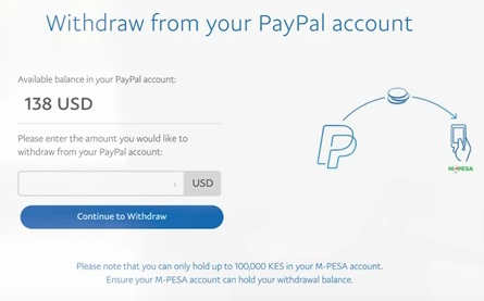 paypal to mpesa withdrawal procedure