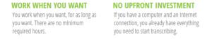 transcription jobs websites in Kenya for making money onine