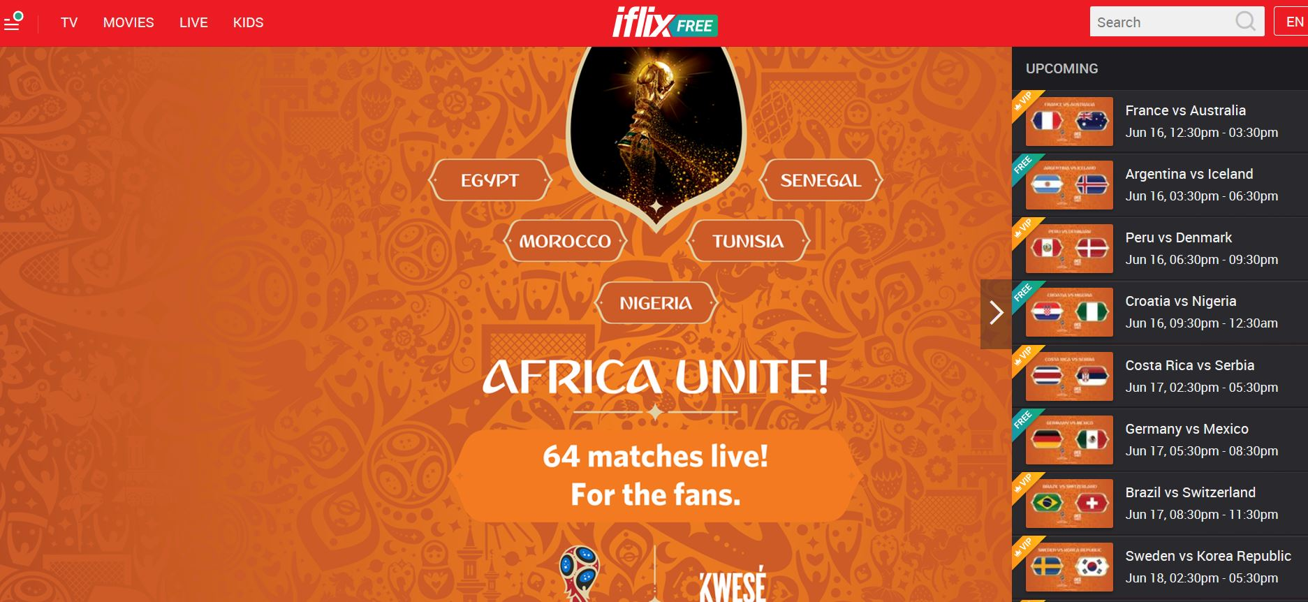 ow How to watch all 2018 World Cup matches in Kenya through Kwese Iflix Live