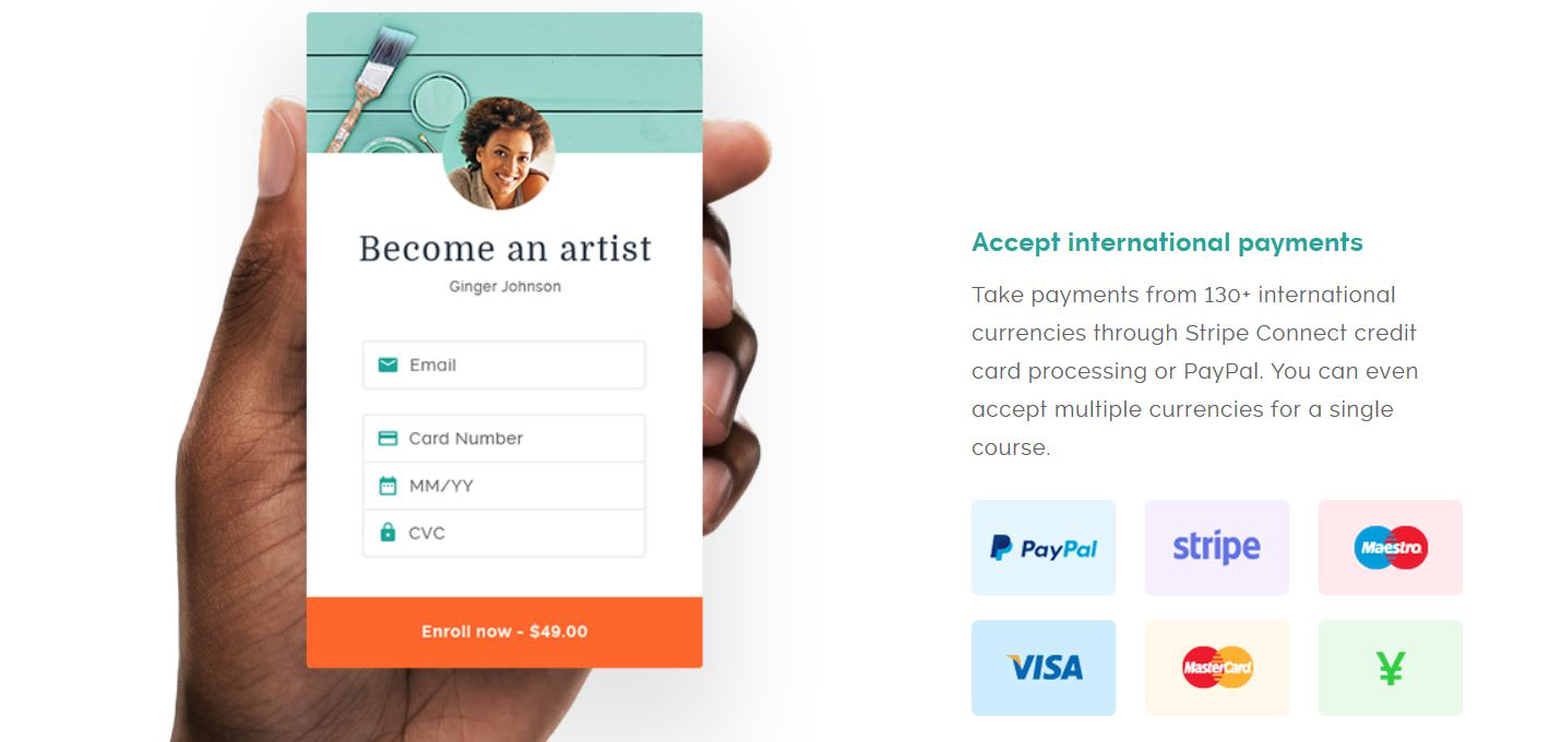 Teachable platform Payment methods for your online course
