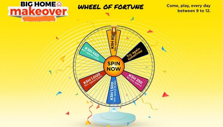 Kenya Jumia wheel of fortune spin and win voucher challenge