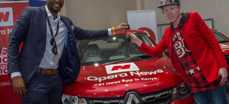 Kennedy Macharia Gichobi winners of the Opera news app Shake and Win World Cup campaign