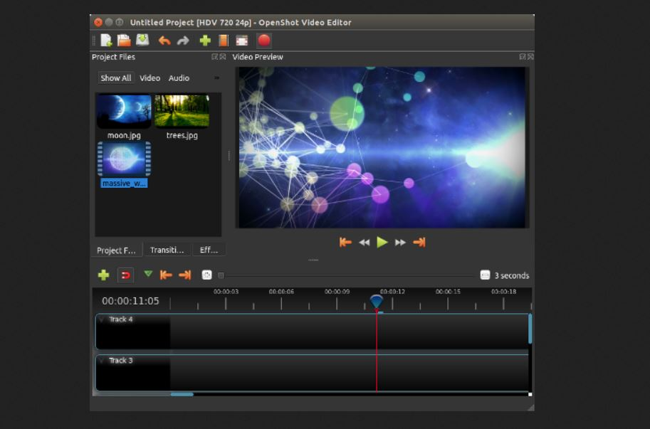 openshot free video editing software for college students