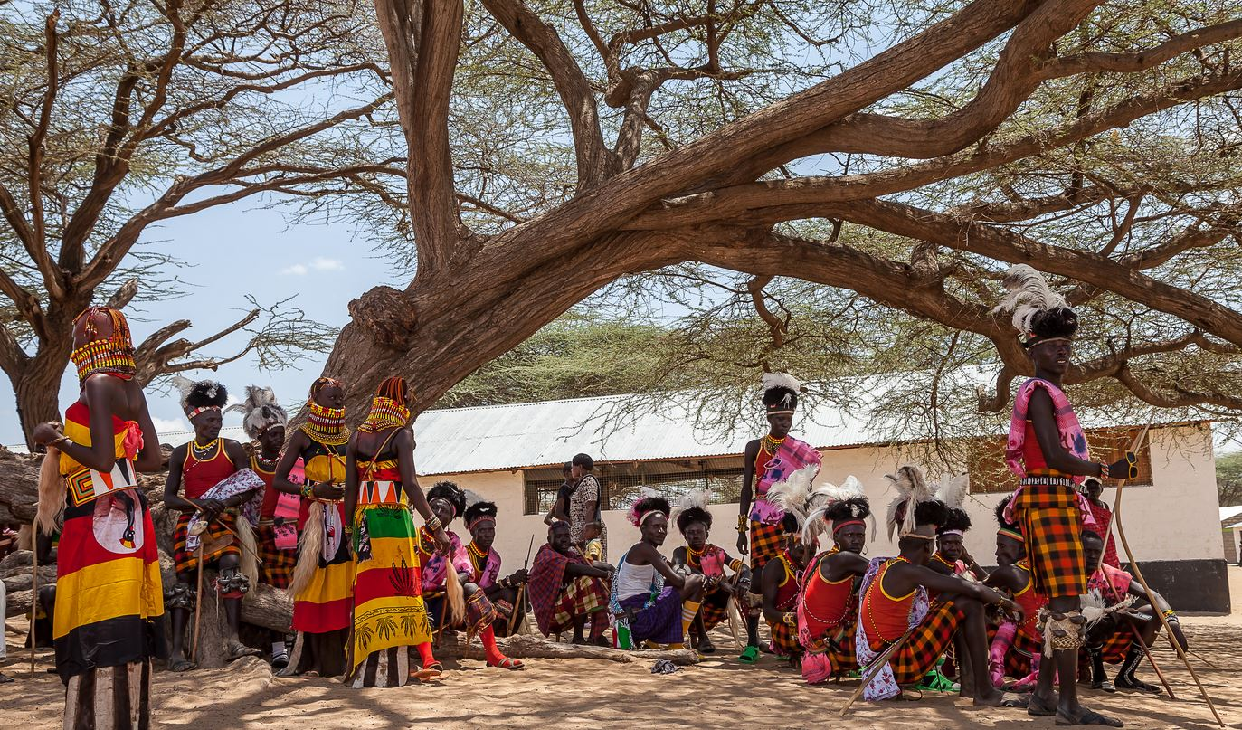 Shooting a video in the villages of turkana in kenya