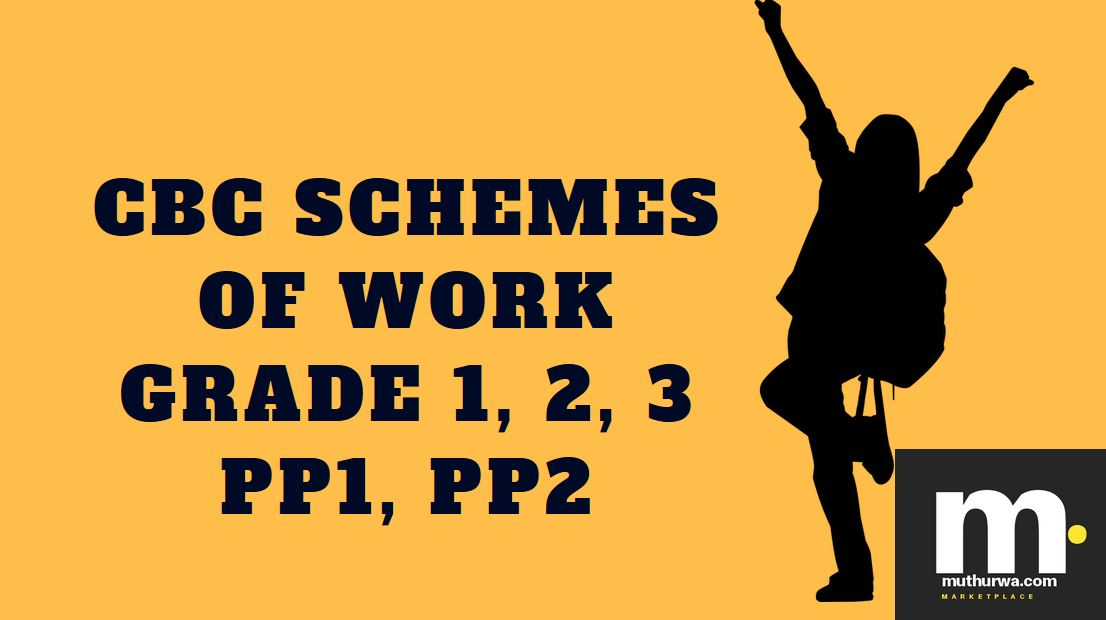 pdf CBC schemes of Work 2018 for Term 3, Grade 1, Grade 2, Grade 3, PP1 and PP2 subjects free