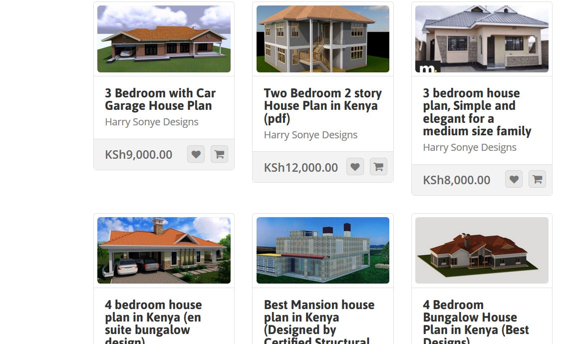 Muthurwa marketplace house plans in kenya for 2 3 4 bedroom houses