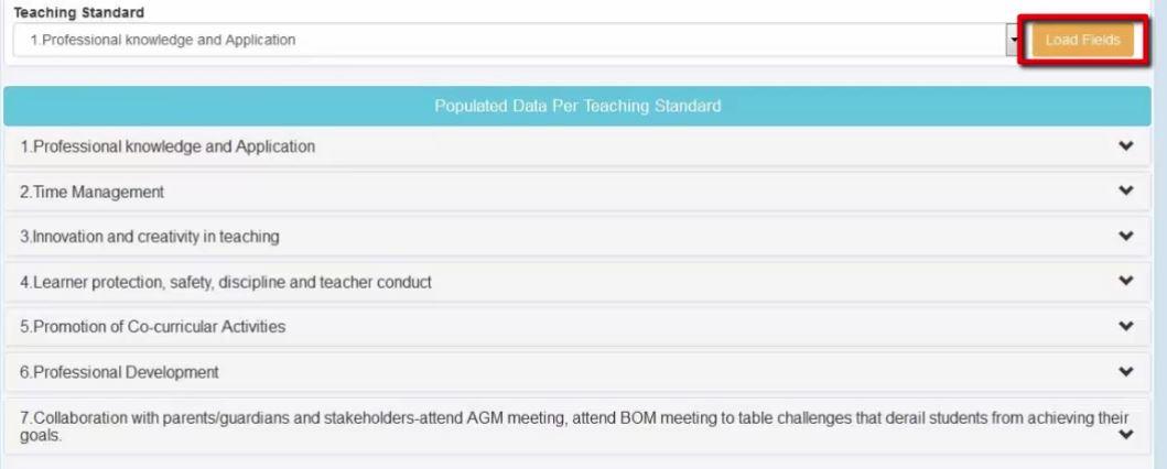 Fill TSC TPAD teachers rating fields